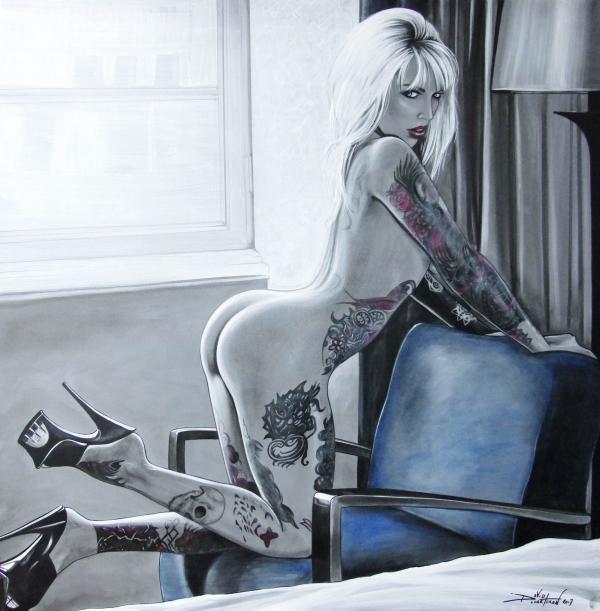la tatouée de l'hôtel (lady lauren)100x100 2017